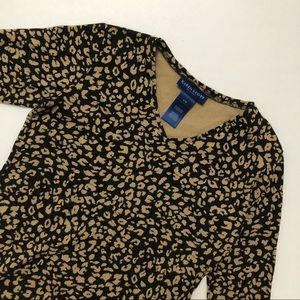 Cheetah Print 3/4 Length Sleeve Shirt